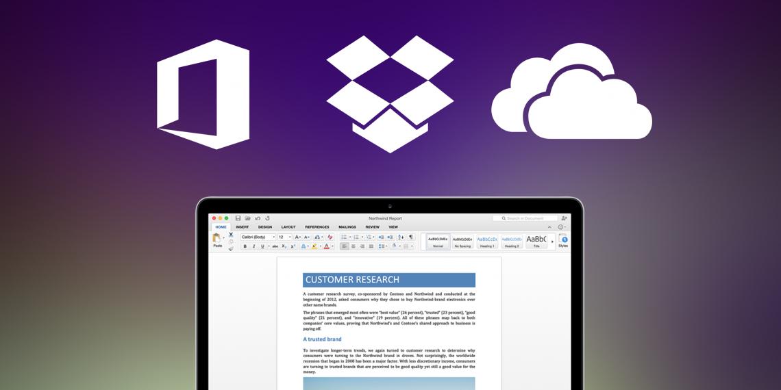 Подключаем Dropbox и OneDrive в новых версиях Microsoft Office