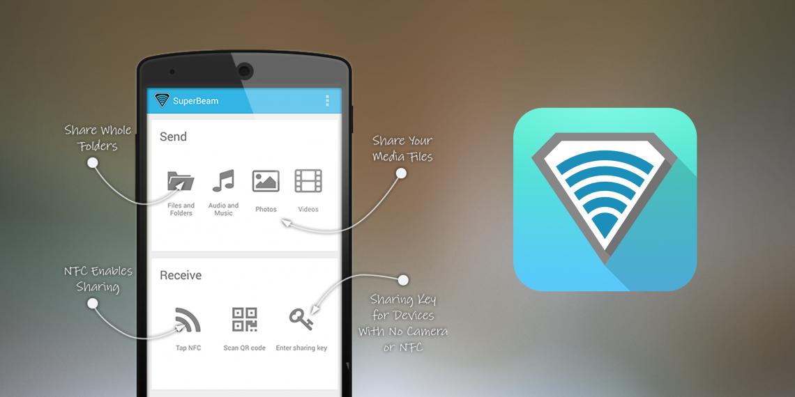 SuperBeam — мощный инструмент для передачи файлов по Wi-Fi без интернета