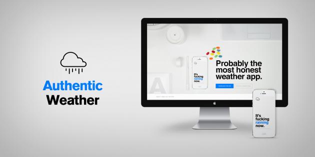 Authentic Weather для iOSскажет, когда «грёбаная погода»изменится