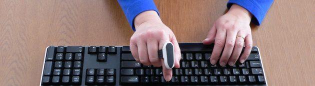 Мышка Mycestro на пальце