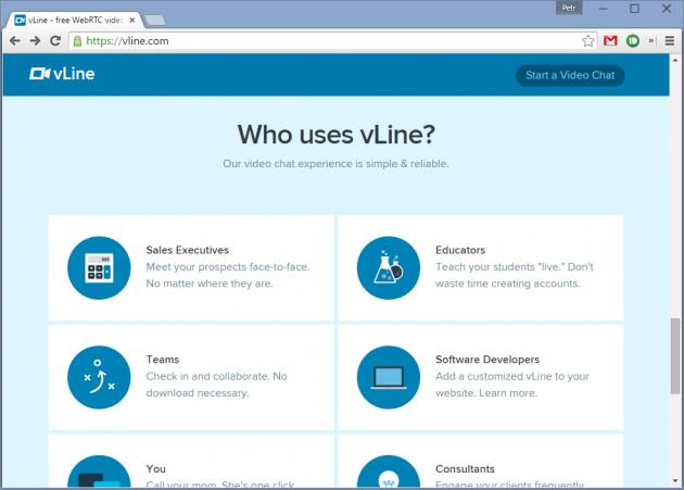 vline.com - видео-звонки без регистрации и оплаты
