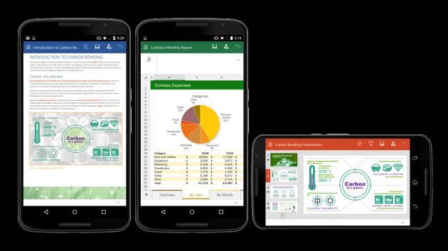 Бета-версияофисного пакетаот Microsoft доступна владельцам Android-смартфонов