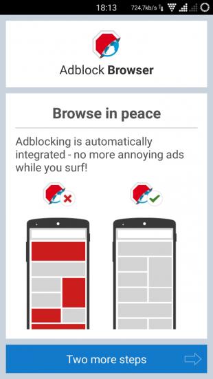AdBlock Browser start