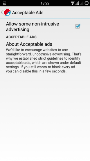 AdBlock selection adds