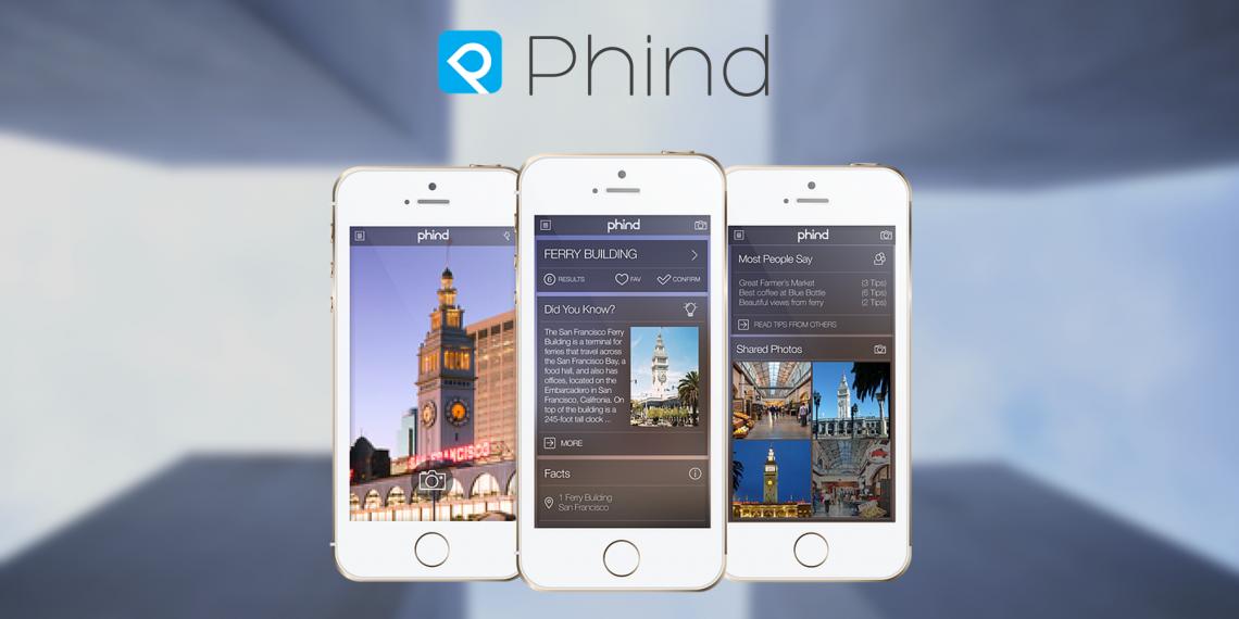 Phind для iOS подскажет названия мест и достопримечательностей, которые вас окружают