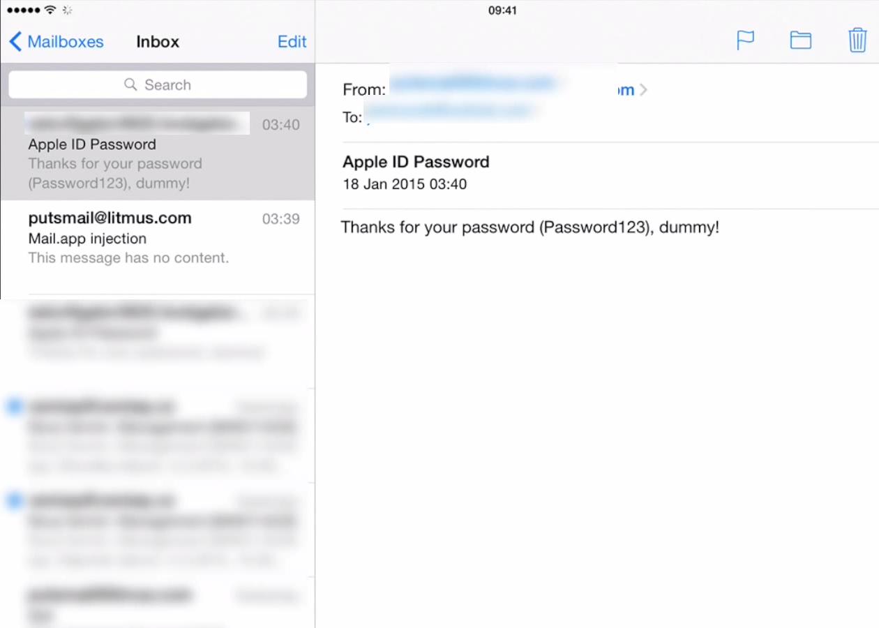Уязвимость в приложении Mail на iOS позволит хакерам завладеть паролем от iCloud