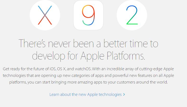 Бета-версии iOS 9 и OS X 10.11 El Capitan доступны для разработчиков