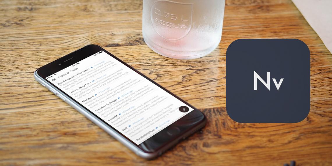 Легендарный заметочник nvNotes вышел в версии для iOS