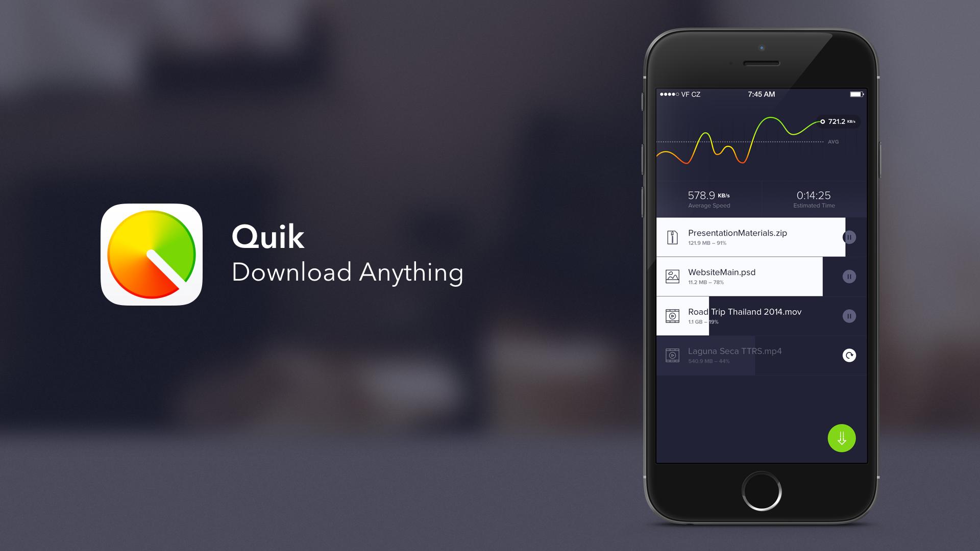 Quik —менеджер загрузок для iOS, который может скачивать видео с YouTube