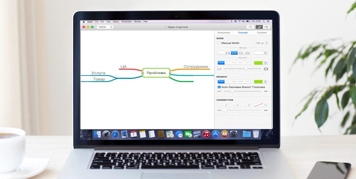 MindNode для OS X —удобный инструмент для создания ментальных карт