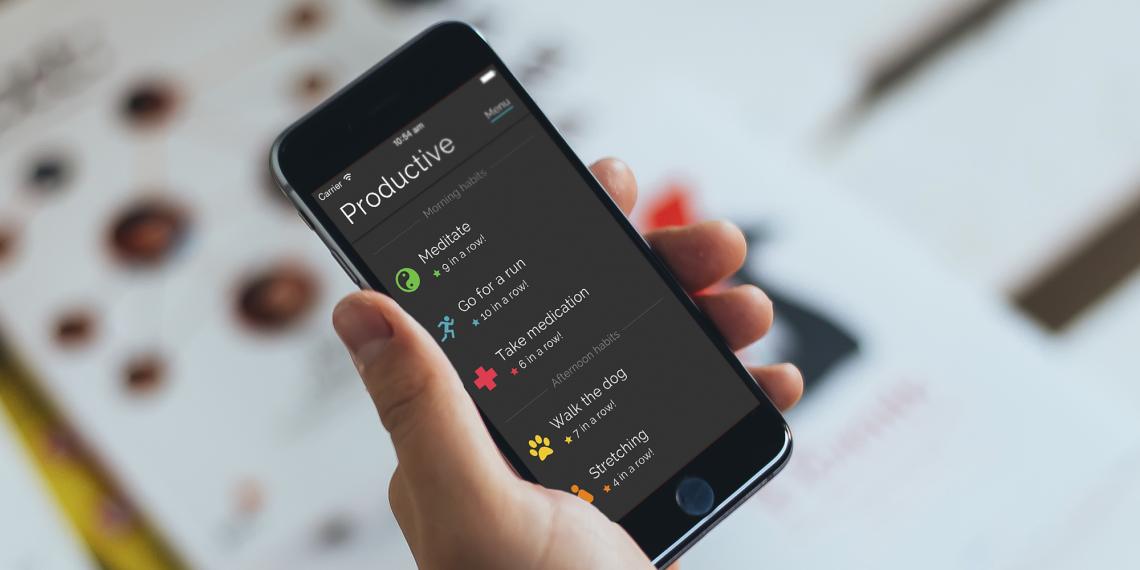 Productive для iOS поможет выработать полезные привычки в ежедневной рутине