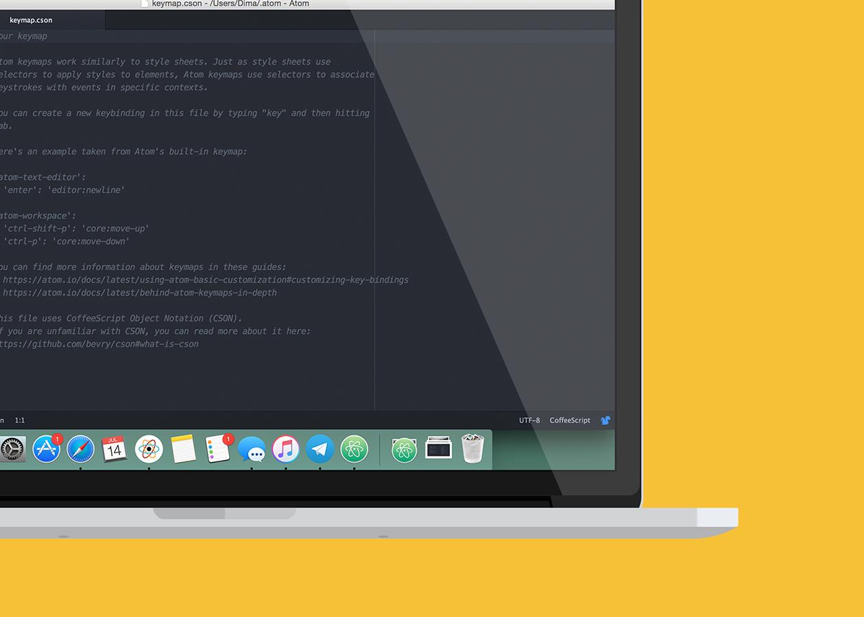 Atom — текстовый редактор для Mac, который приспосабливается под любые задачи