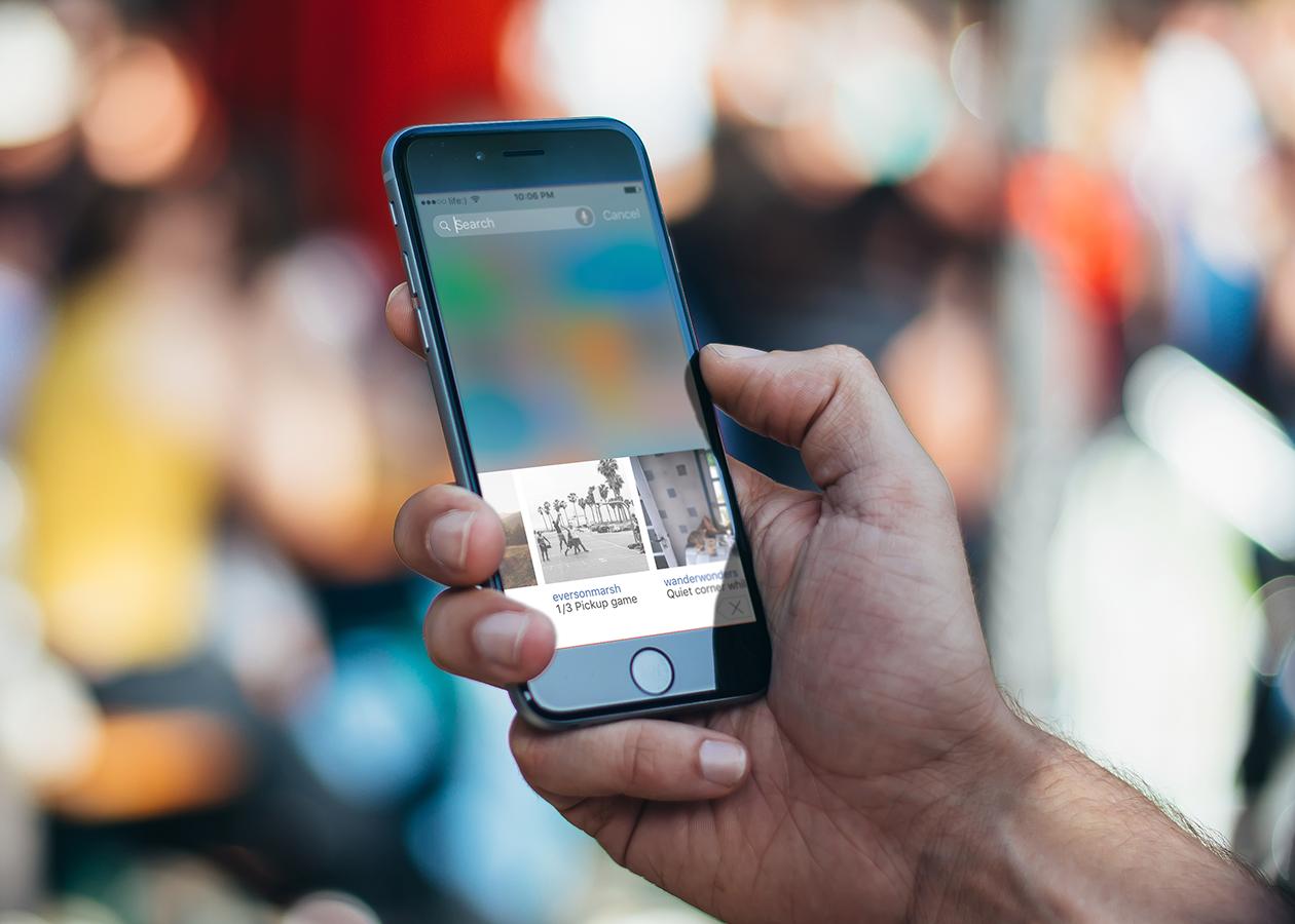 KeyFeed помещает ленту Instagram в окно экранной клавиатуры