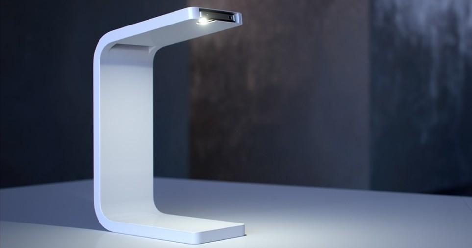 Дизайнер придумал использовать iPhone в качестве изящной настольной лампы