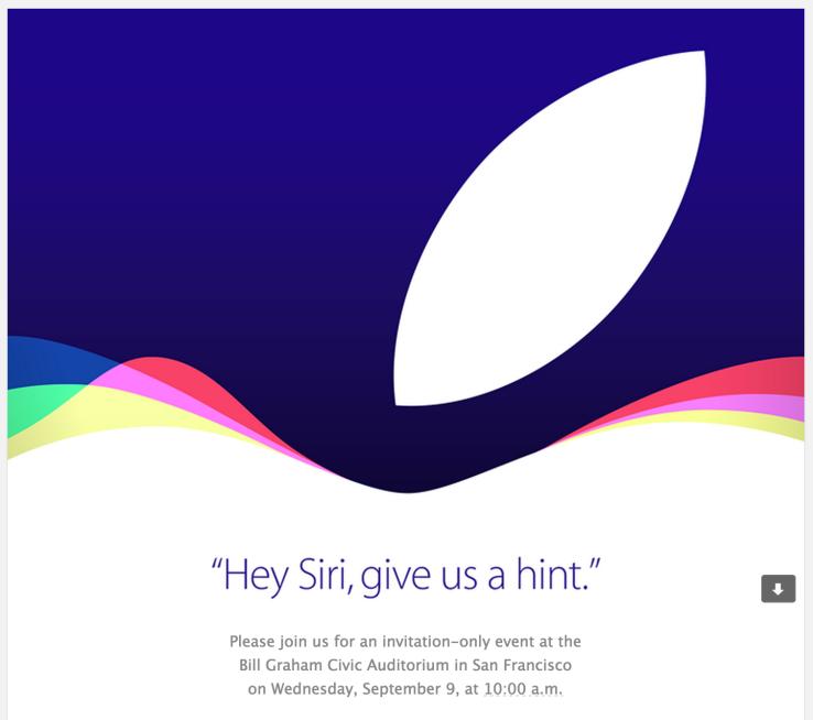 Официально: презентация iPhone 6s состоится 9 сентября