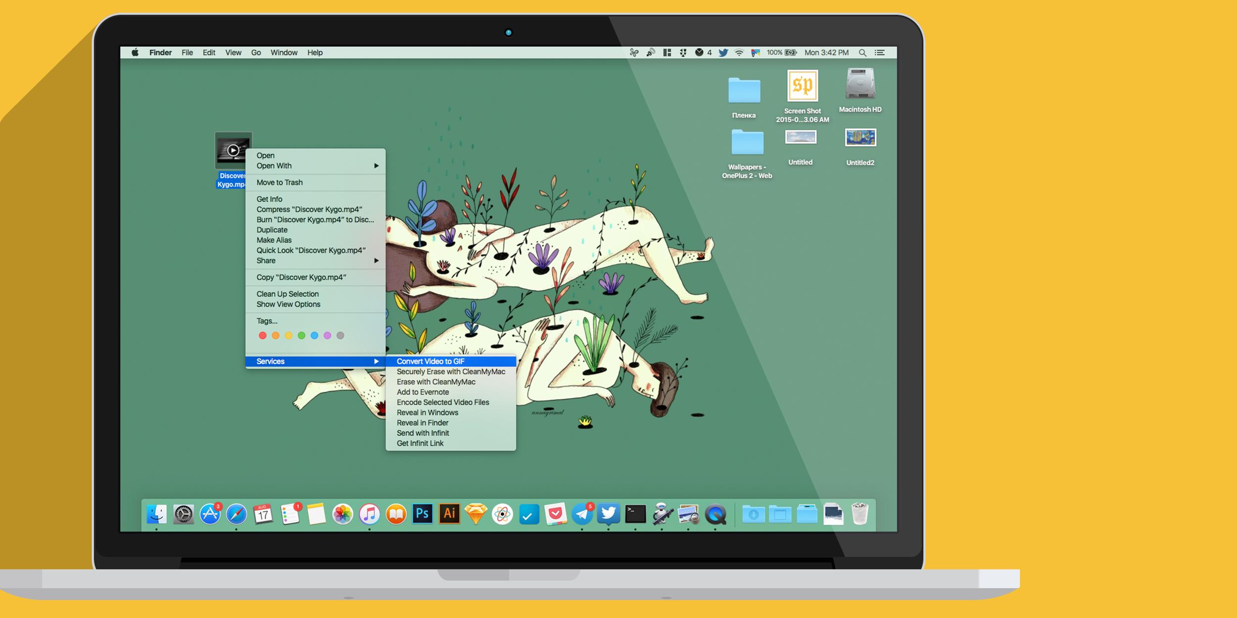 Convert Video to Gif — самый простой способ превратить запись экрана Mac в анимацию