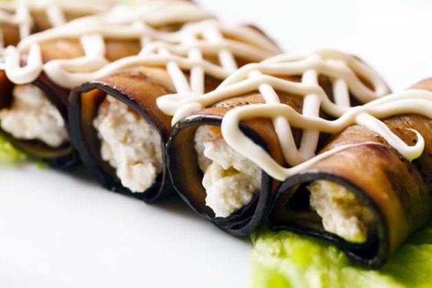 Блюда из баклажанов: рулеты