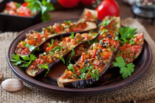 Блюда из баклажанов: лодочки