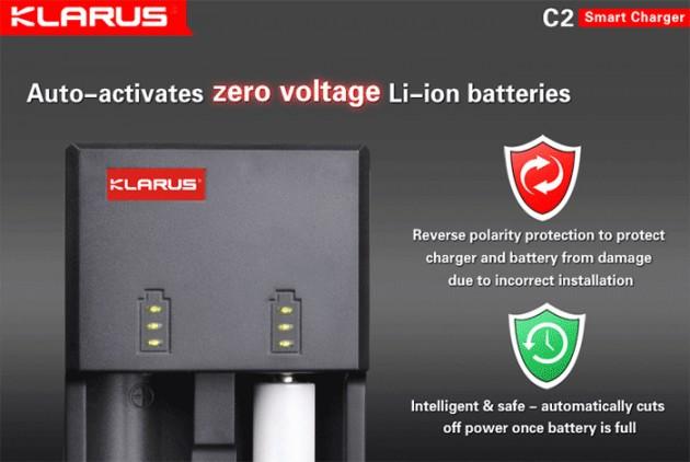 Внешние аккумуляторы на пальчиковых батарейках: Klarus C2