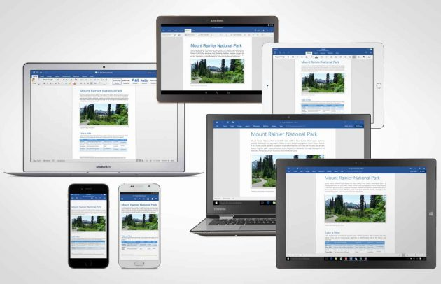 Microsoft Office 2016: apps any size