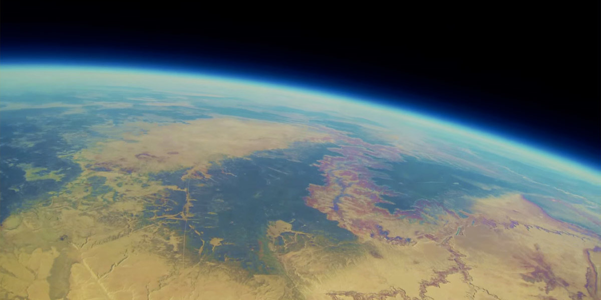 ВИДЕО: Камера GoPro запечатлела Большой каньон из стратосферы