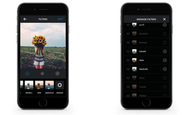 Скрыть фильтры Instagram, которые вам не нравятся