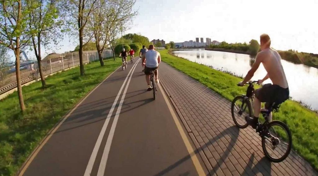 Велодорожки и парки для бега в Минске