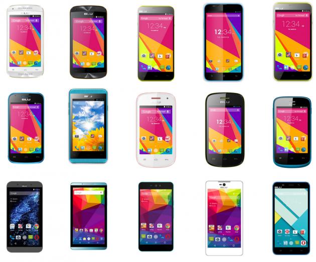 Blu: бюджетные смартфоны