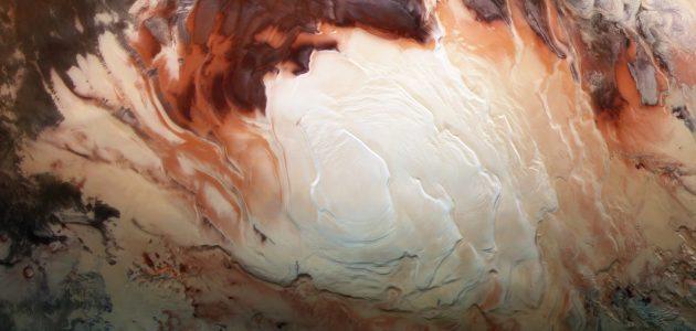 Вода на Марсе существует в жидком и твёрдом состоянии