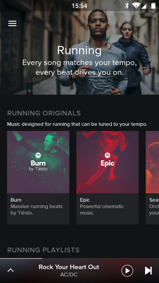 Spotify Running list