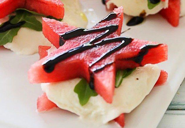 Блюда из арбуза: арбузный капрезе