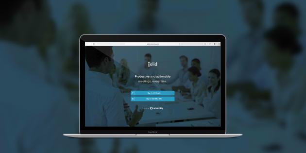 Solid —сервис для составления повестки совещаний