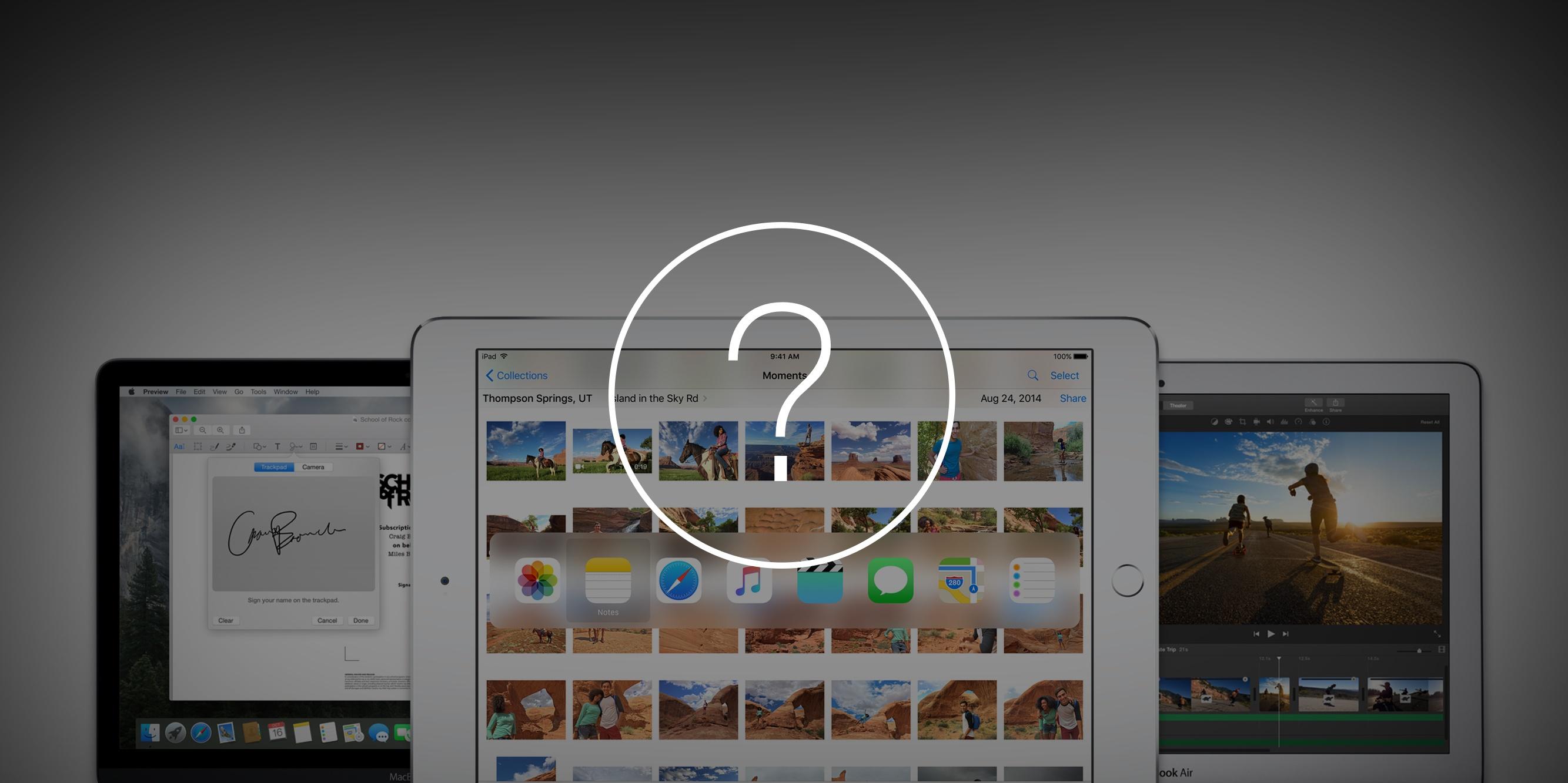 Что выбрать: iPad Pro, MacBook или MacBook Air