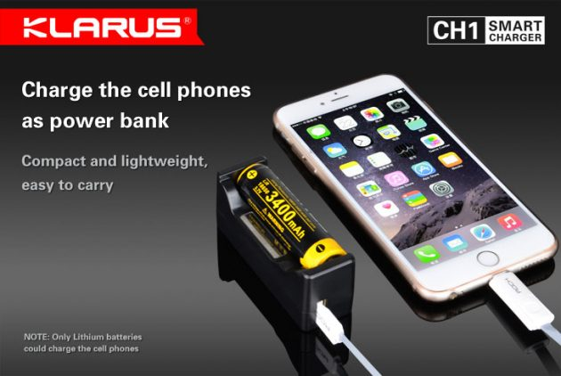 Внешние аккумуляторы: Klarus CH1