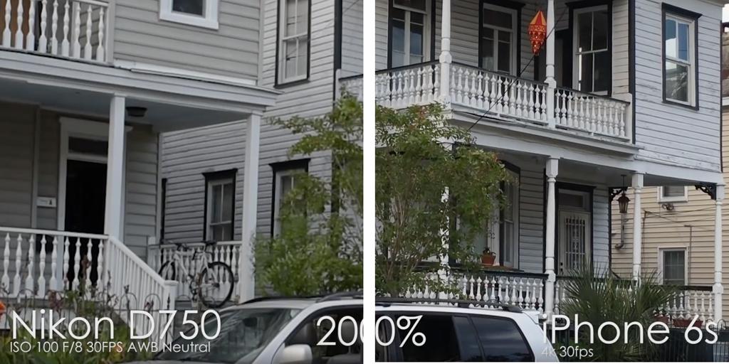 iPhone 6s показывает лучшие результаты при видеосъемке, чем Nikon D750