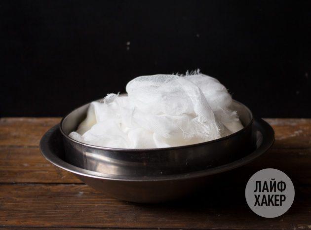 Домашний крем-сыр: оставляем на 4–12 часов