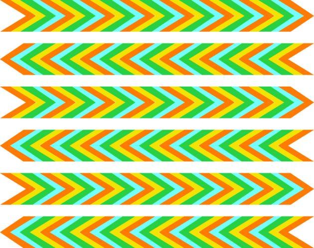Оптические иллюзии. Разноцветные стрелы