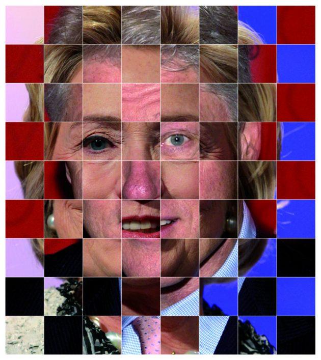 Оптические иллюзии. Мозаика лиц
