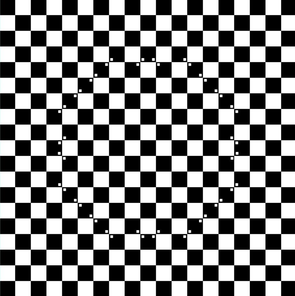 Оптические иллюзии. Шахматное поле