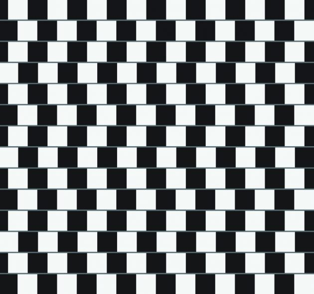Оптические иллюзии. Стена кафе