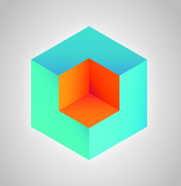 Оптические иллюзии. Куб