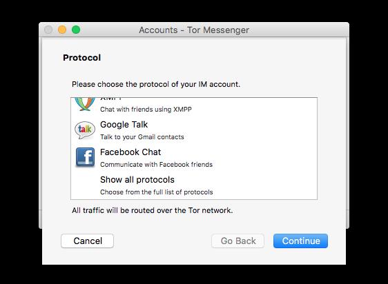 Анонимные чаты Tor Messenger