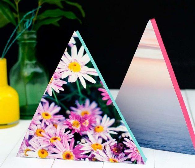 Треугольные рамки для фотографий