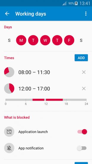 AppBlock: режим отключения приложений