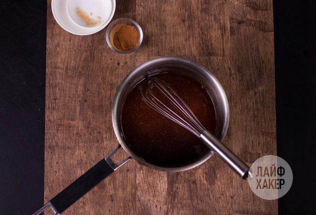 Гранола — сварите медово-сахарный сироп