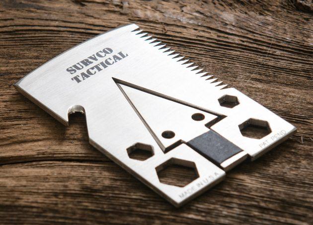 SURVCO — мультитул-кредитка для выживания