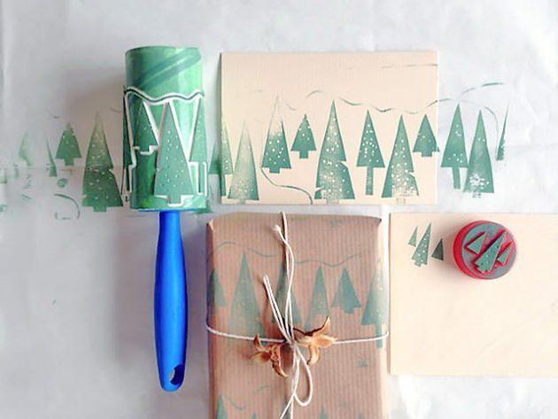 как упаковать подарок — как сделать штамп для рисования узоров