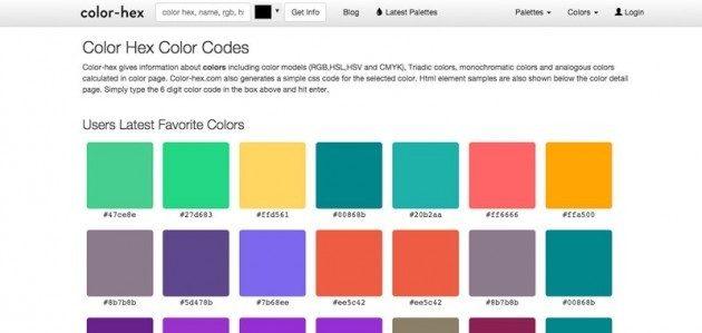 Color Hex Color Codes