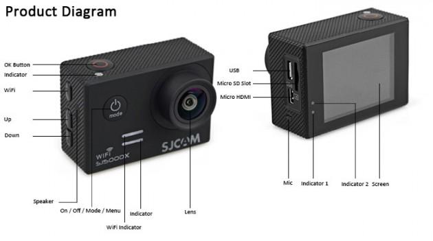 SJCAM SJ5000X Elite: внешний вид