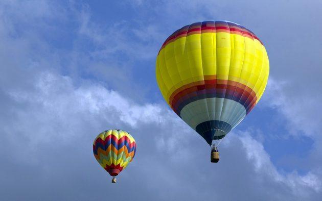 Подарки на Новый год: полёт на воздушном шаре